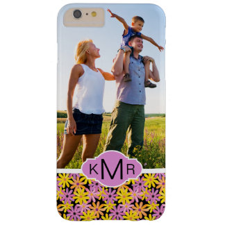 Custom Photo & Monogram Gerbera flowers pattern Barely There iPhone 6 Plus Case