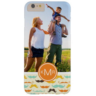 Custom Photo & Monogram Mustache pattern 3 Barely There iPhone 6 Plus Case
