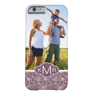 Custom Photo & Monogram Retro pattern Barely There iPhone 6 Case