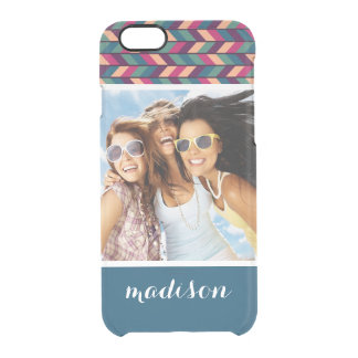 Custom Photo & Name Abstract Colorful Industrial Clear iPhone 6/6S Case