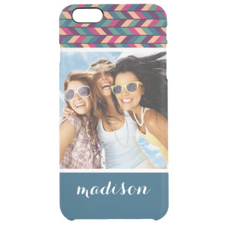 Custom Photo & Name Abstract Colorful Industrial Clear iPhone 6 Plus Case