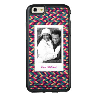 Custom Photo & Name Abstract Colorful Industrial OtterBox iPhone 6/6s Plus Case