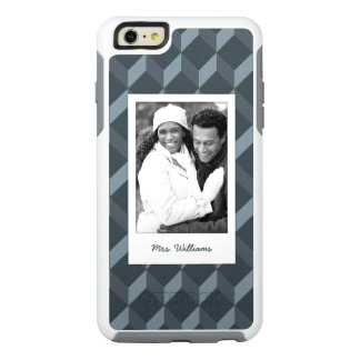 Custom Photo & Name Abstract Geometric Pattern OtterBox iPhone 6/6s Plus Case