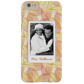 Custom Photo & Name Autumn Leaves Barely There iPhone 6 Plus Case