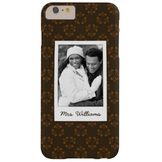 Custom Photo & Name Brown abstract pattern Barely There iPhone 6 Plus Case