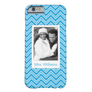 Custom Photo & Name Chevron Pattern Background Barely There iPhone 6 Case