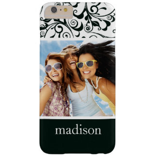 Custom Photo & Name Damask Barely There iPhone 6 Plus Case