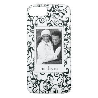 Custom Photo & Name Damask Case-Mate iPhone Case