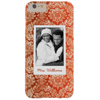 Custom Photo & Name Floral vintage wallpaper Barely There iPhone 6 Plus Case