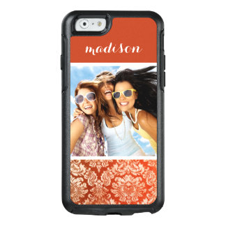 Custom Photo & Name Floral vintage wallpaper OtterBox iPhone 6/6s Case