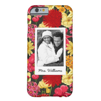 Custom Photo & Name Floral wallpaper watercolor Barely There iPhone 6 Case