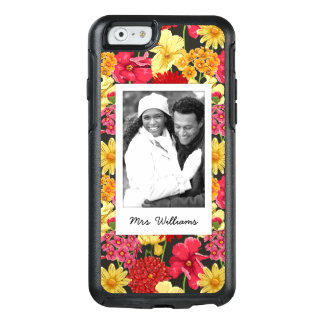 Custom Photo & Name Floral wallpaper watercolor OtterBox iPhone 6/6s Case