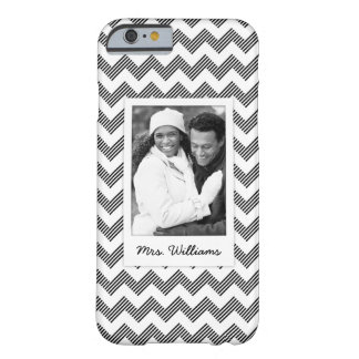 Custom Photo & Name Geometric zigzag pattern Barely There iPhone 6 Case