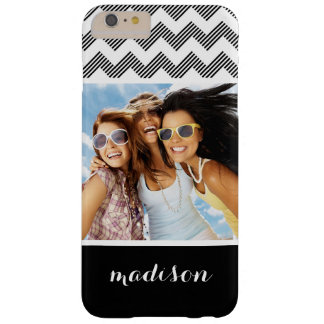 Custom Photo & Name Geometric zigzag pattern Barely There iPhone 6 Plus Case