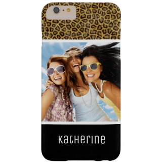 Custom Photo & Name Leopard Fur Barely There iPhone 6 Plus Case