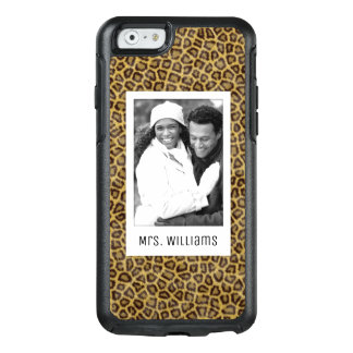 Custom Photo & Name Leopard Fur OtterBox iPhone 6/6s Case