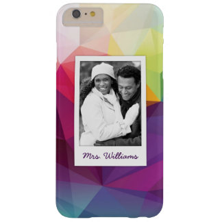 Custom Photo & Name Modern Design Barely There iPhone 6 Plus Case