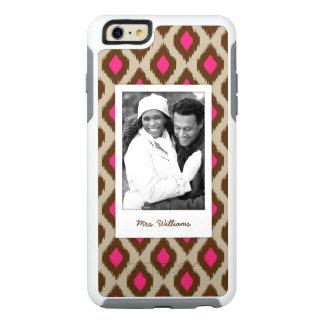 Custom Photo & Name Modern ikat pattern OtterBox iPhone 6/6s Plus Case