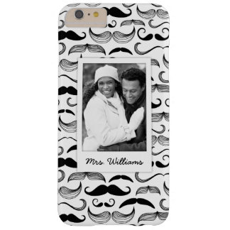 Custom Photo & Name Mustache pattern 2 Barely There iPhone 6 Plus Case