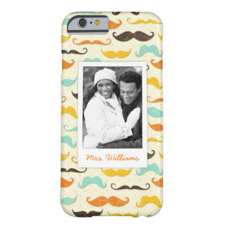 Custom Photo & Name Mustache pattern 3 Barely There iPhone 6 Case