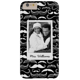 Custom Photo & Name Mustache pattern Barely There iPhone 6 Plus Case