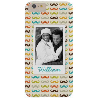 Custom Photo & Name Pattern with mustache Barely There iPhone 6 Plus Case