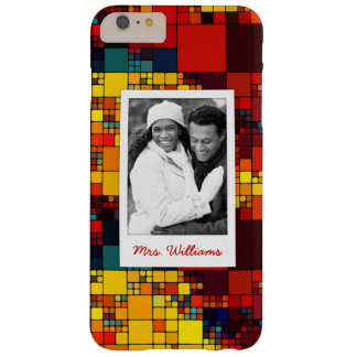Custom Photo & Name rainbow geometric pattern Barely There iPhone 6 Plus Case