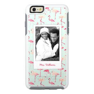 Custom Photo & Name Retro Flamingo Pattern OtterBox iPhone 6/6s Plus Case