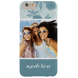 Custom Photo & Name Retro Floral Pattern 2 2 Barely There iPhone 6 Plus Case