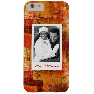 Custom Photo & Name Squares on grunge wall Barely There iPhone 6 Plus Case