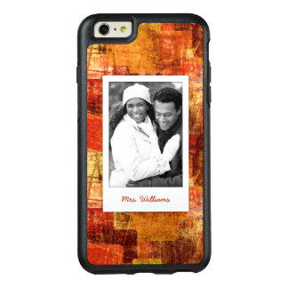 Custom Photo & Name Squares on grunge wall OtterBox iPhone 6/6s Plus Case