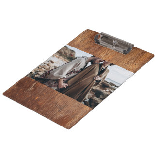 Custom photo natural wood texture clipboard