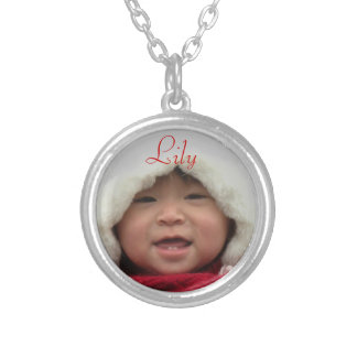 Custom Photo Ncklace Silver Plated Necklace