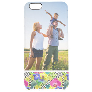 Custom Photo Orchid Begonia And Palm Leaves Clear iPhone 6 Plus Case