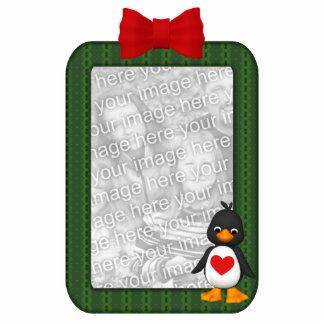 Custom Photo Ornament Penguin Photo Sculpture Ornament