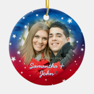 Custom Photo Ornaments | Red White and Blue