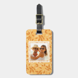 Custom Photo Pattern with autumn leaves Bag Tag