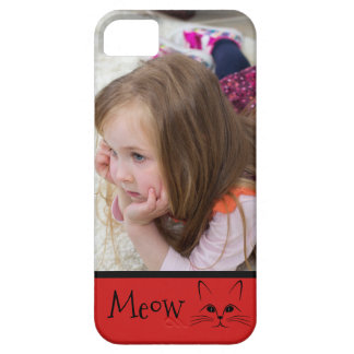 Custom Photo Personalized Meow Kitty iPhone 5 Cases