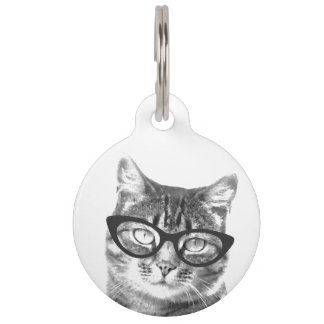 Custom photo pet tag for dog or cat owner