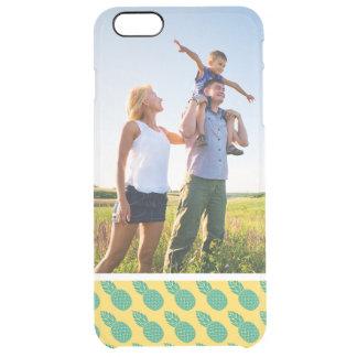 Custom Photo Pineapple Pattern Clear iPhone 6 Plus Case