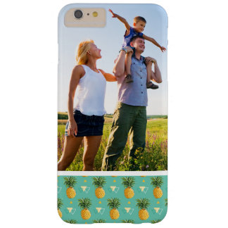 Custom Photo Pineapples On Geometric Pattern Barely There iPhone 6 Plus Case