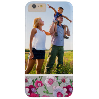 Custom Photo Pink Orchids In Bloom Barely There iPhone 6 Plus Case