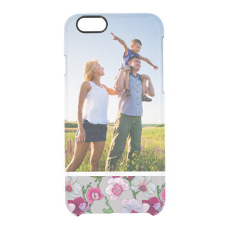 Custom Photo Pink Orchids In Bloom Clear iPhone 6/6S Case