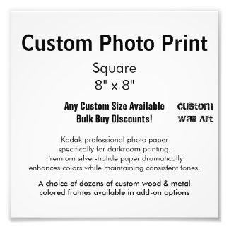"Custom Photo Print - Square  8"" x 8"""