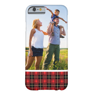 Custom Photo Red Plaid Background Barely There iPhone 6 Case