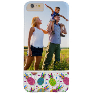 Custom Photo Retro Pineapple Pattern Barely There iPhone 6 Plus Case
