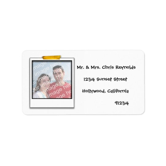 Custom Photo Return Address Label