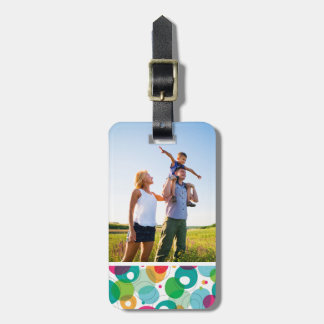 Custom Photo Round bubbles kids pattern Luggage Tag