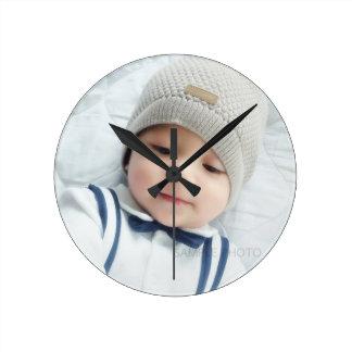 Custom Photo Round Clock