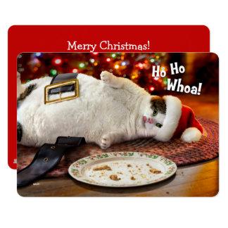 Custom Photo | Santa Cat & Christmas Cookie Card